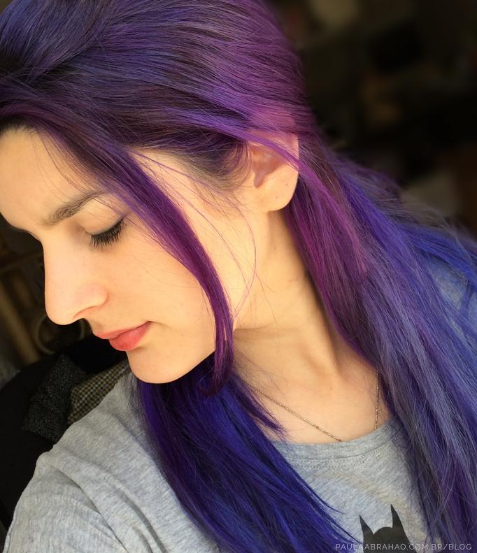 Paula Abrahao | BLOG - Cabelo roxo com Manic Panic